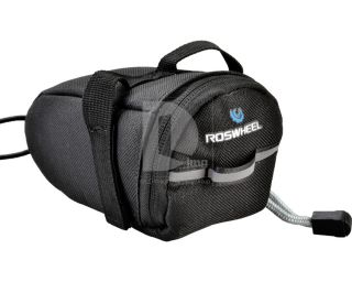 Cycling Bike Bicycle Saddle Bag Pouch Back Seat Bag Black Outdoor
