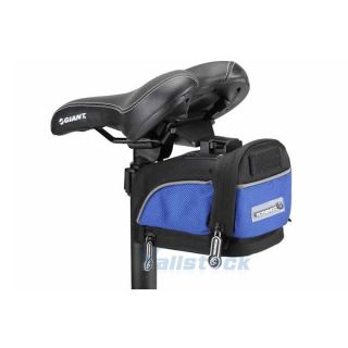 Cycling Bicycle Bike Saddle Outdoor Pouch Seat Bag Package Blue