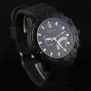 Trendy Rubber Silicon Big Face Sport Mens Wrist Watch