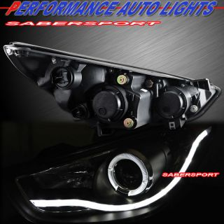 BLACK HALO PROJECTOR HEADLIGHTS w/ LED PARKING LIGHTS FOR 2010 2012