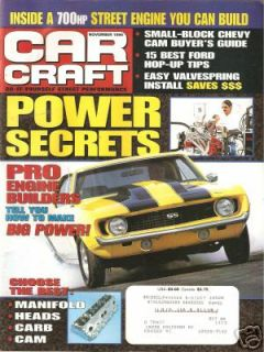 November 1996 Car Craft Tim Allens BINFORD 6100 Impala SS 68 Camaro