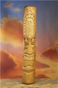 Tiki Mask 40 Hand Carved Wood Big Smile Hawaiian Tribal Wall Art