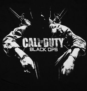 Call Of Duty Black Ops Distressed Soldier Video Game T Shirt Tee