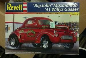 Big John Mazmanian Revell 1 25 41 Willys Gasser Model