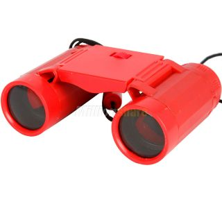 and High Quality Folding Children Binoculars Telescopes Toy Red