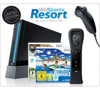 Black Nintendo Wii Console System New in Box with Wii Sports and Spot