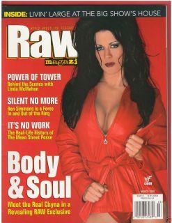 WWE Raw Wrestling Magazine Diva Chyna Big Show 3 00