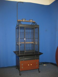 24 x 22 x 63 Parrot Bird Perch Stand Birds Cage Cages with