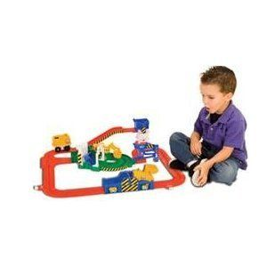 Tomy Big Loader Little Construction toy Dump Truck and track dumping