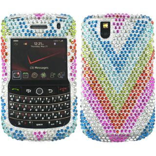 RAINBOW BLING RHINESTONE CASE COVER FOR BLACKBERRY TOUR 9630