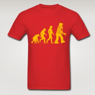 Human Robot Evolution Big Bang Theory Adult Youth Women T Shirt 24