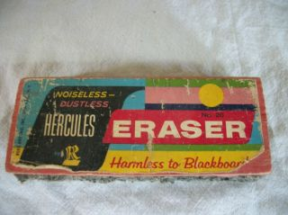Vintage Hercules Chalkboard Eraser Rose Art Co noiseless/ dustless No