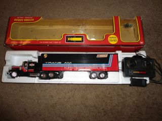 Remote Control Toy Big Rig Semi Truck Vintage Black Sold as Is