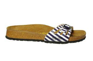Birkenstock Papillio Womens Sandals Blue White Slides EUR 38 NB0076