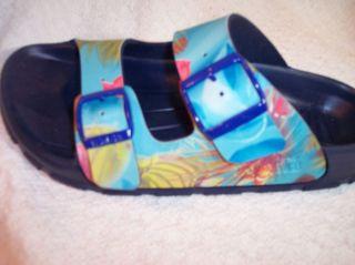 Birkis Shoes Lagoon Blue Sandals Birko Flor Haiti L35 4 N New Free