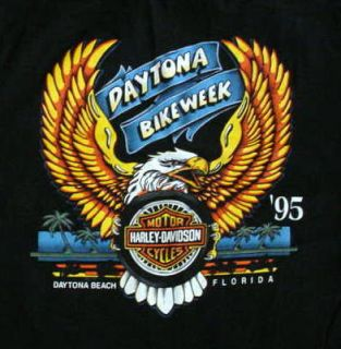 95 Bike Week Daytona Harley Davidson T Shirt Mens Med