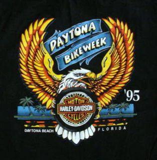 95 Bike Week Daytona Harley Davidson T Shirt Mens Med