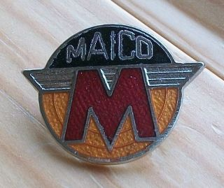 MAICO red pin badge Biker Rocker 59 Cafe Racer motorcycle AHRMA