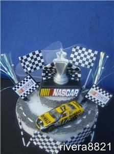 NASCAR Trophy N Dewalt Race Car Birthday Cake Top New