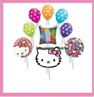 Hello Kitty 1st First Birthday Balloon Party Supplies