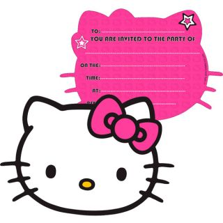 birthday party supplies hello kitty invitations pack of 6