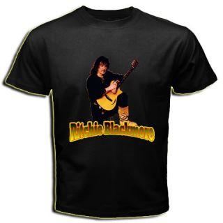 Ritchie Blackmore Rainbow Deep Purple Black T Shirt Tee