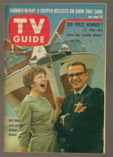 TV Guide Magazine July 1962 Bill Cullen with Winner Barbara Benner No