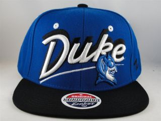 NCAA DUKE BLUE DEVILS ZEPHYR SCRIPT FLAT BILL SNAPBACK HAT CAP GREEN