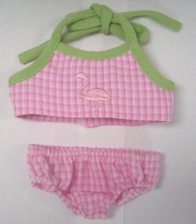 Doll Clothes Fit Bitty Baby Pink Flamingo Suit Coverup