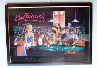 Billiards NYC Pool Room Marilyn Monroe Dean Bogart Print Framed Under