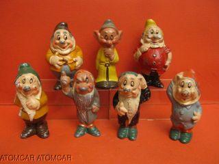 Walt Disney Lincoln Logs 7 Dwarfs Slush Lead RARE Set Snow White