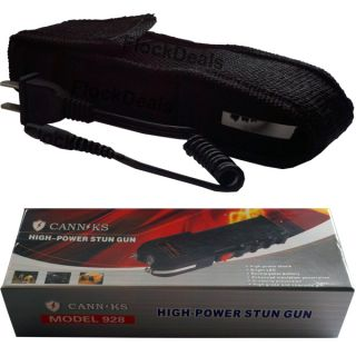 Canniks Black 8 8 Million High Volt Heavy Duty Stun Gun LED Light