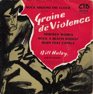 BILL HALEY HIS COMETS SOUNDTRACK GRAINE DE VIOLENCE FRENCH PS 45rpm EP