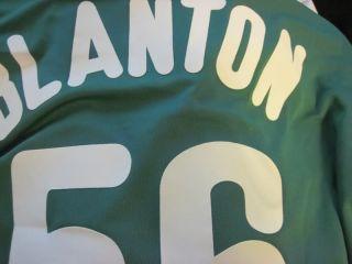 Joe Blanton Phillies St. Patricks Day Game Worn Used Jersey Green BP