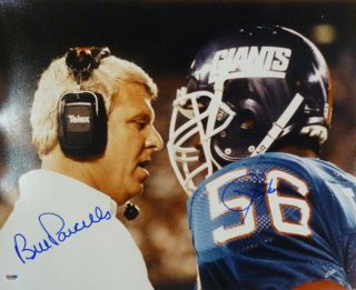 Bill Parcells Lawrence Taylor Dual Signed Autographed New York Giants