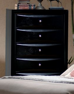 Solid Hardwood Black Dresser Chest of Drawers