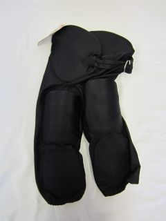 F2500P Football Pants with Pads Youth Black White Game Pants