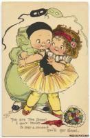 WIEDERSEIM DRAYTON Mardi Gras Couple TUCK LOVE MESSAGES VALENTINE