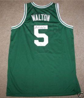 Bill Walton Signed Autographed Boston Celtics 5 Basketball Jersey COA