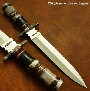 Bill Andersons Exquisite RARE 1 of A Kind Custom Art Dagger Knife