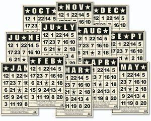 Jenni Bowlin Studio Bingo Card Sets Mini Dates Vintage
