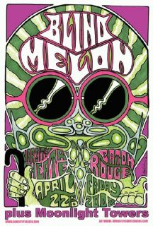 Blind Melon Baton Rouge Original Concert Poster Mint