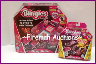 NEW BLINGLES DESIGN STUDIO 480 GEMS SPARKLING PRINCESS THEME PACK GEMS