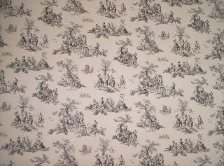 Black and White Small Print Toile Wallpaper 025