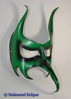 Green Goblin Leather Mask Masquerade Blix Scary Costume