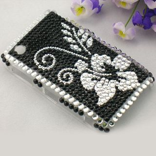 rhinestone bling cover case for blackberry 8520 b106