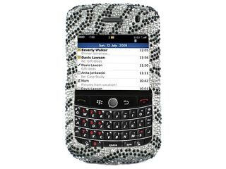 Bling Rhinestone Case Cover Blackberry Bold 9650 Silver