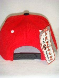 Chicago Blackhawks NHL Snapback Hat Cap Zigzag Red Black