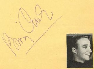 Bing Crosby Vintage 1930s Signed Album Page Autographed Singer Actor
