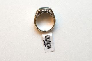 New David Yurman Mens Silver Bloodstone Ring Size 10 $575